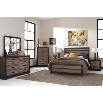 Harlinton 5 Pc. Bedroom - Dresser, Mirror & Queen Panel Bed