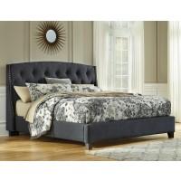 Kasidon - Dark Grey - Queen Upholstered Bed