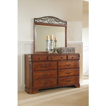 dresser with hutch mirror wooden request quote wyatt dresser mirror whitash furnishings inc
