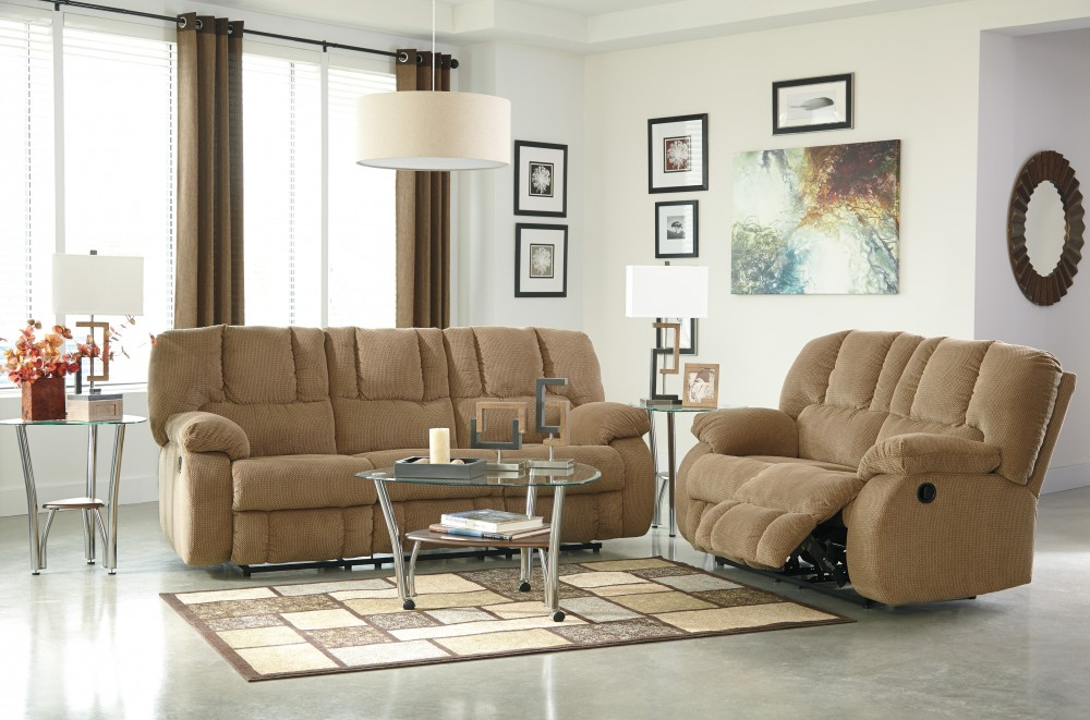 Roan - Mocha - Reclining Sofa & Loveseat