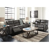 Long Knight - Grey - Reclining Sofa & Loveseat