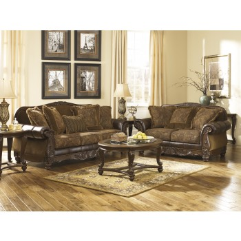 Fresco DuraBlend - Antique - Sofa & Loveseat