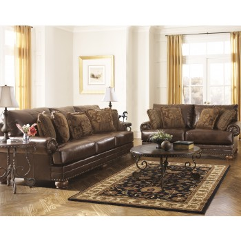 Chaling DuraBlend - Antique - Sofa & Loveseat