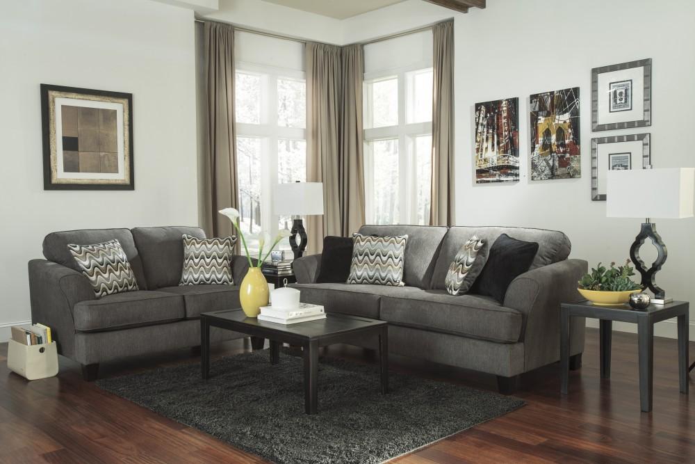 Gayler - Steel - Sofa & Loveseat