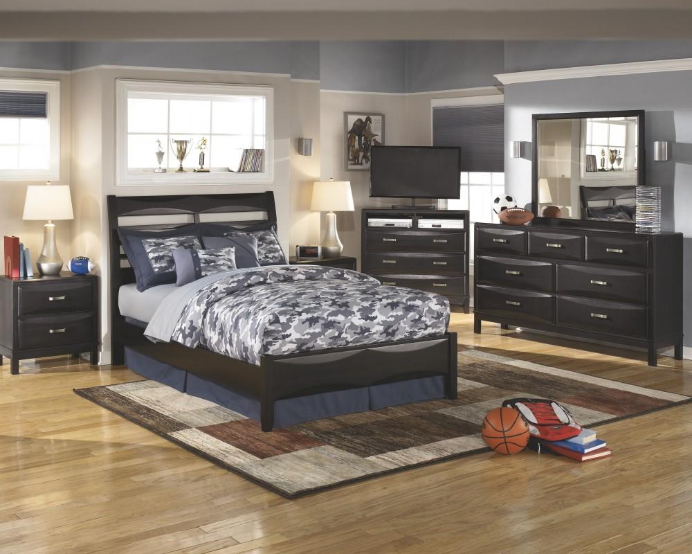 Kira Dresser, Mirror & Full Panel Bed