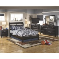 Kira Dresser, Mirror & Full Panel Bed