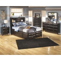 Kira Dresser, Mirror & Full Bed with Storage