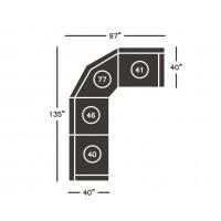 Dak Left-Arm Facing Recliner