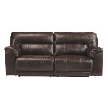 Barrettsville DuraBlend - Chocolate - 2- Seat Reclining Sofa w/ Power