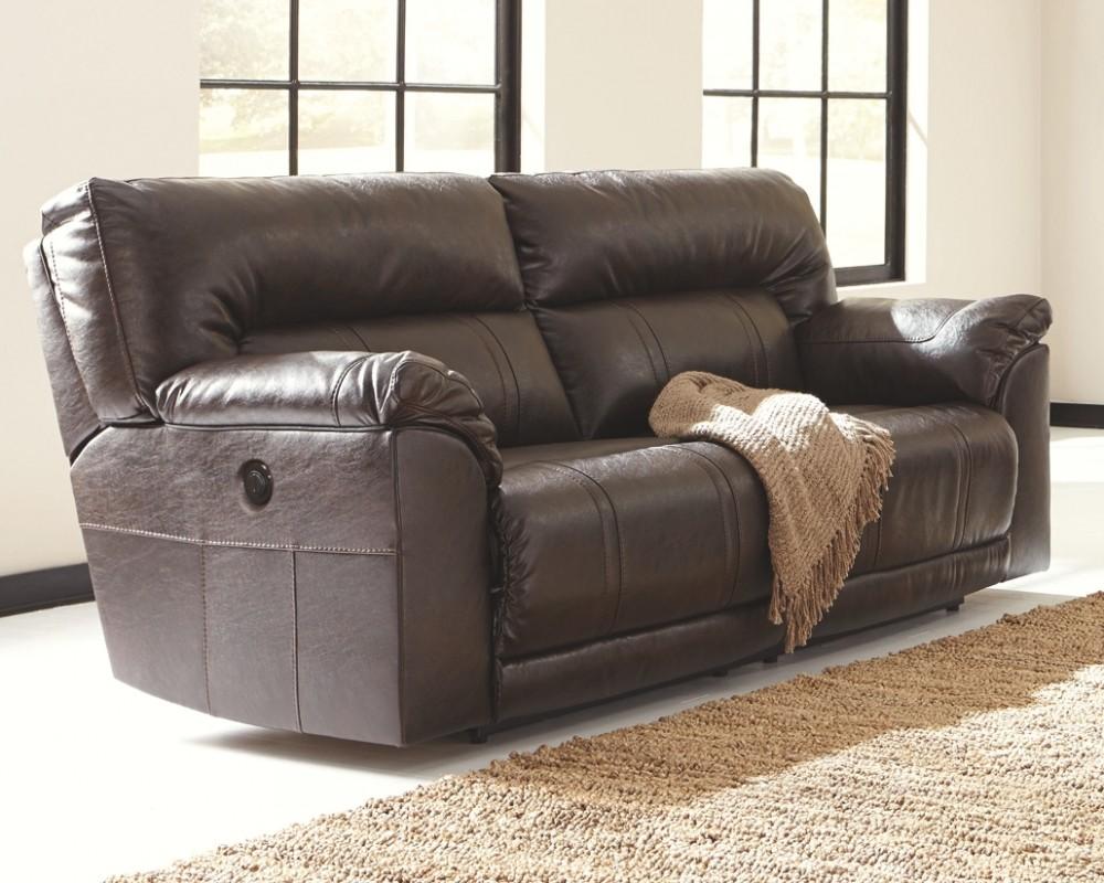 Barrettsville DuraBlend - Chocolate - 2- Seat Reclining Sofa w ...