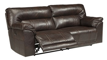 Barrettsville Durablend Chocolate 2 Seat Reclining Sofa W