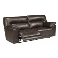Barrettsville DuraBlend - Chocolate - 2- Seat Reclining Sofa w/ Power