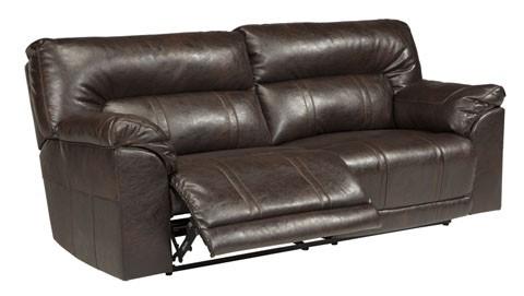 Barrettsville DuraBlend - Chocolate - 2- Seat Reclining Sofa