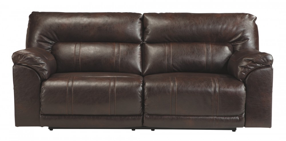Barrettsville DuraBlend - Chocolate - 2- Seat Reclining Sofa