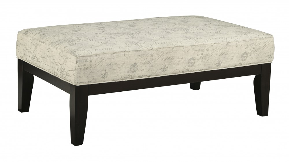 Baveria - Fog - Oversized Accent Ottoman