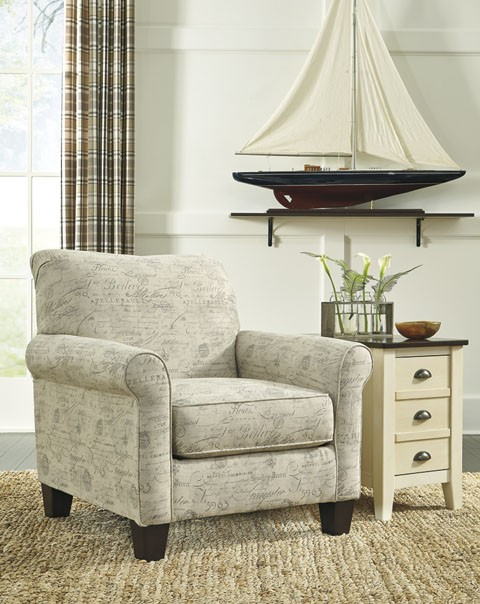 Baveria - Fog - Accent Chair