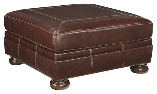 Banner - Coffee - Oversized Accent Ottoman