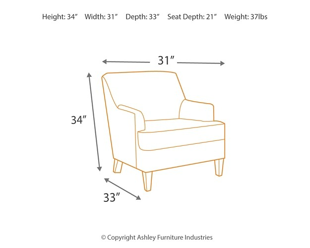 Crislyn Accents Smoke Accent Chair 689xx21 Chairs B M Furniture