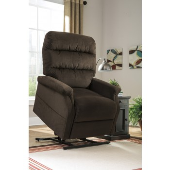 Brenyth - Chocolate - Power Lift Recliner