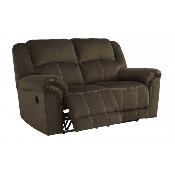 Quinnlyn - Coffee - Reclining Power Loveseat