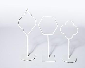 Acotas - White - Photo Holder (Set of 3)