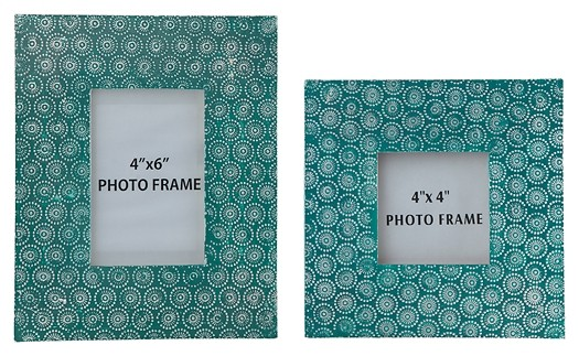 Bansi - Teal - Photo Frame (Set of 2) | A2000148 | Photo Frames ...
