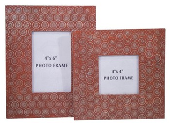 Bansi - Orange - Photo Frame (Set of 2)