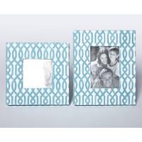 Baina - Teal/White - Photo Frame (Set of 2)