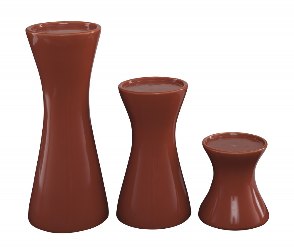 Cais - Orange - Candle Holder (Set of 3)