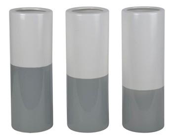 Dalal - Gray/White - Vase (Set of 3)