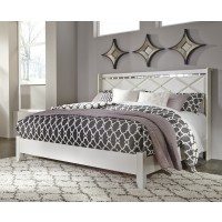 Dreamur - Champagne - King Panel Footboard w/ Rails