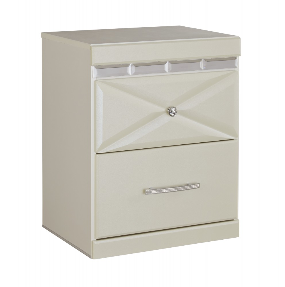 Dreamur   Champagne   Two Drawer Night Stand