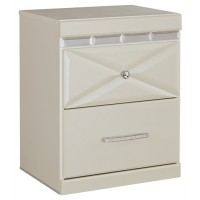 Dreamur - Champagne - Two Drawer Night Stand