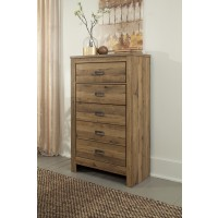 Cinrey - Medium Brown - Five Drawer Chest