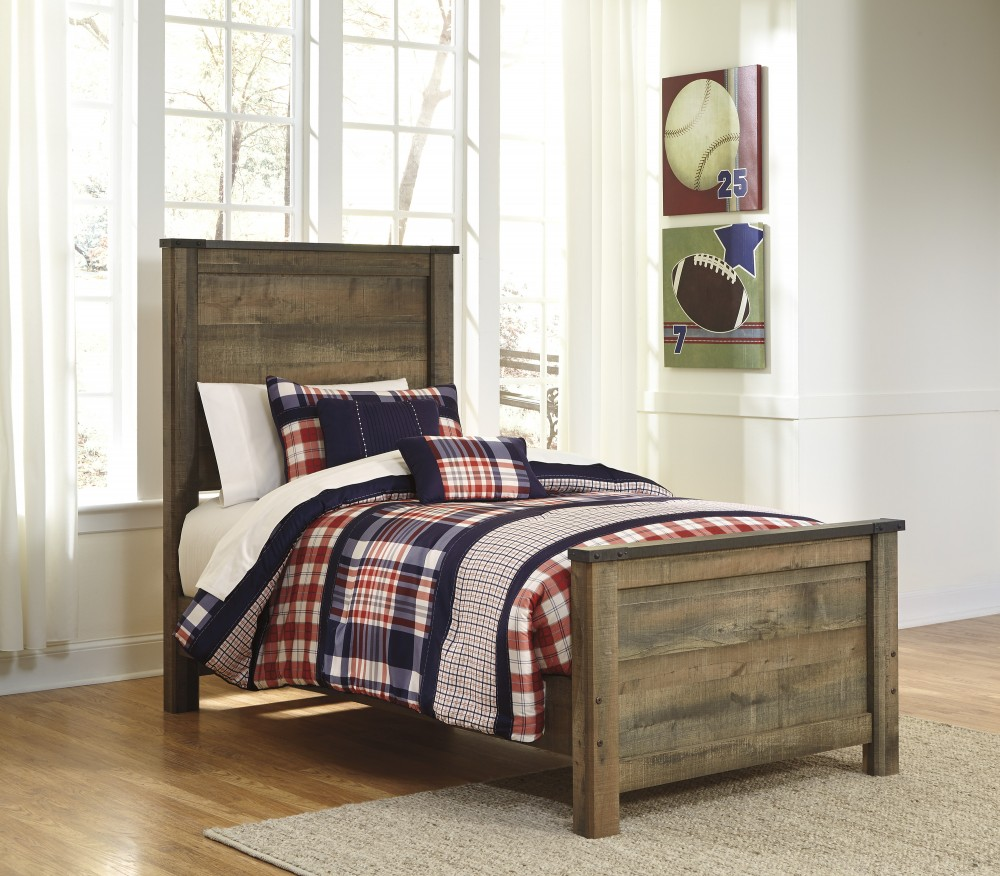 Trinell - Brown - Twin Panel Footboard
