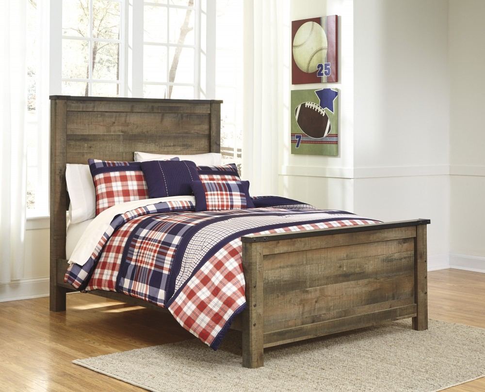 Trinell - Brown - Full Panel Footboard