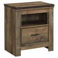 Trinell - Brown - One Drawer Night Stand