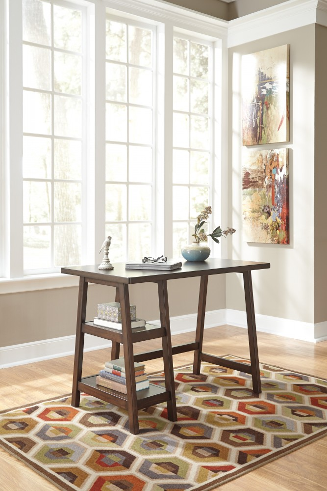 Lewis - Medium Brown - Home Office Small Desk
