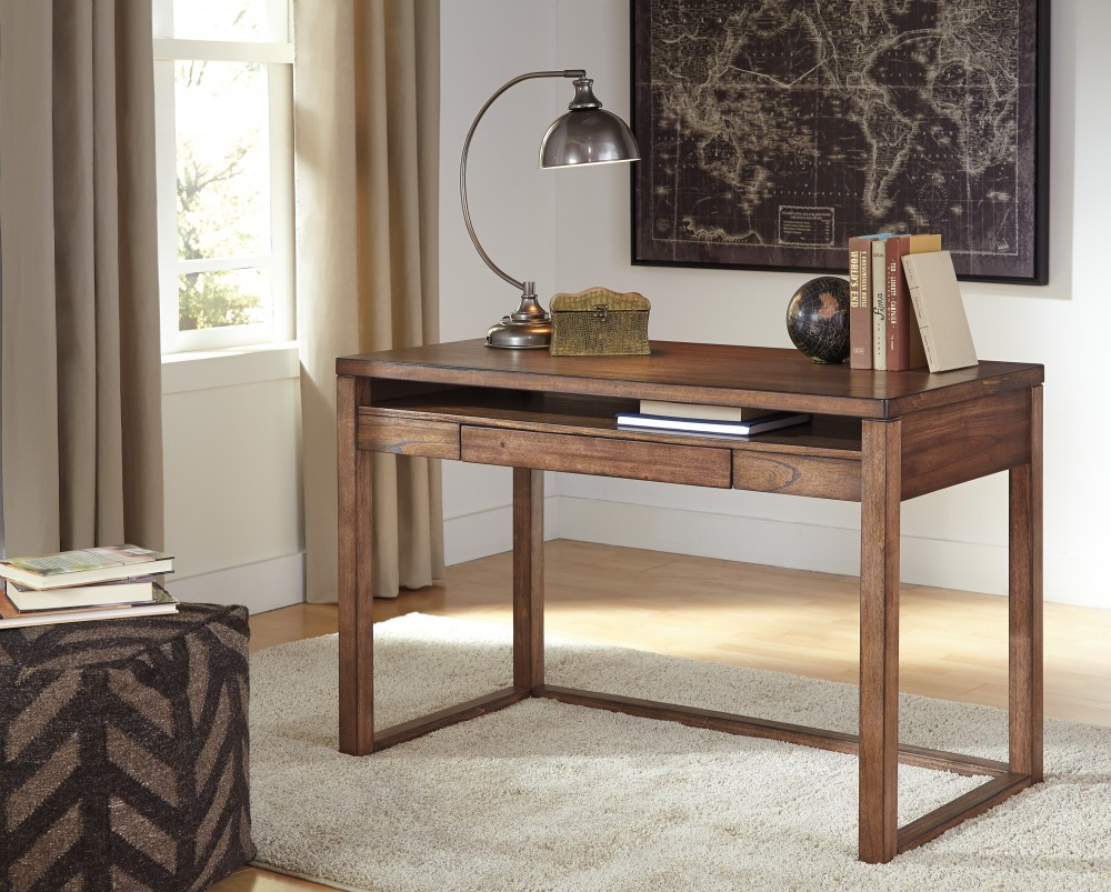 Beau Baybrin   Rustic Brown   Home Office Small Desk
