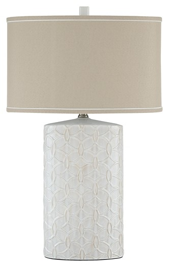 Shelvia - Antique White - Ceramic Table Lamp (1/CN)