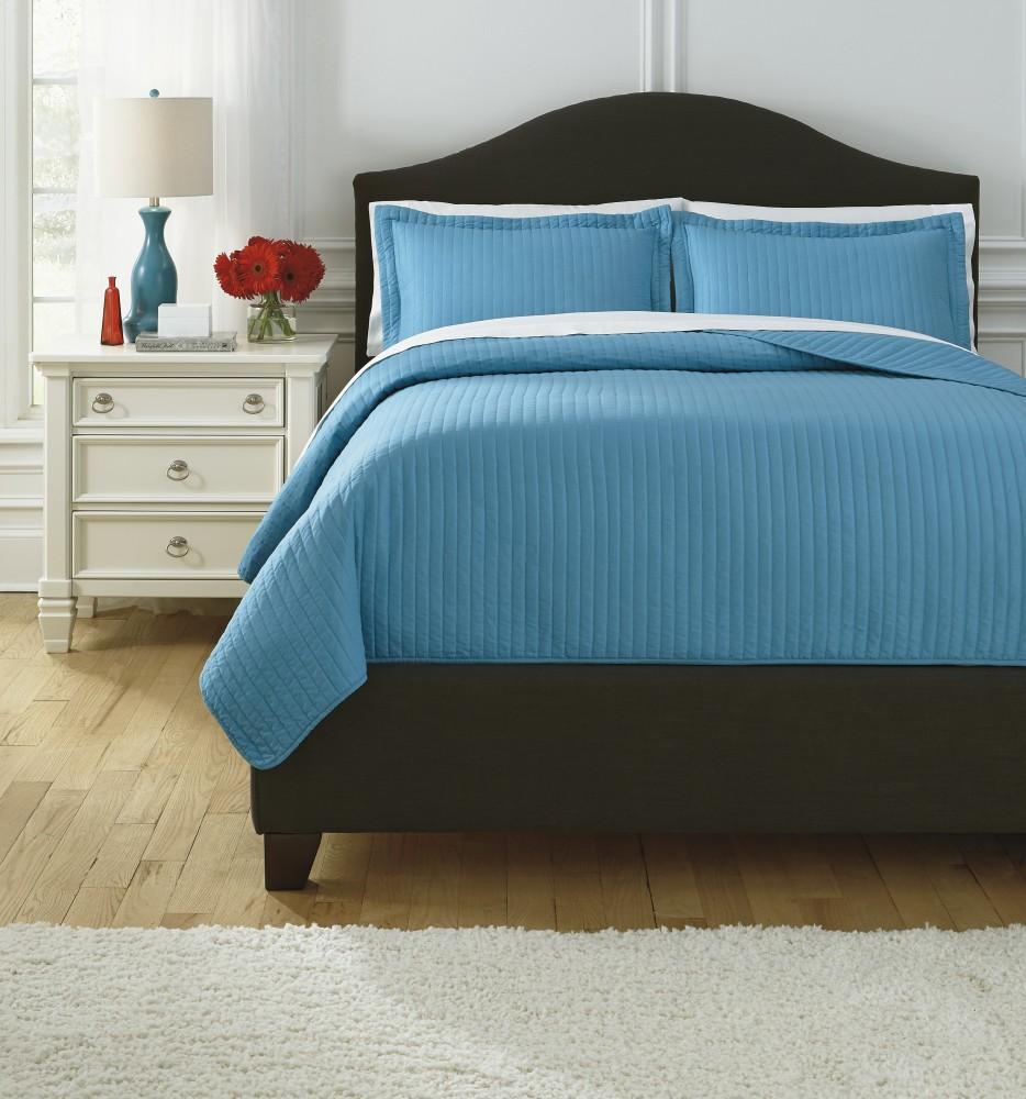 Raleda - Turquoise - Queen Comforter Set | Q495003Q | Bedding ...