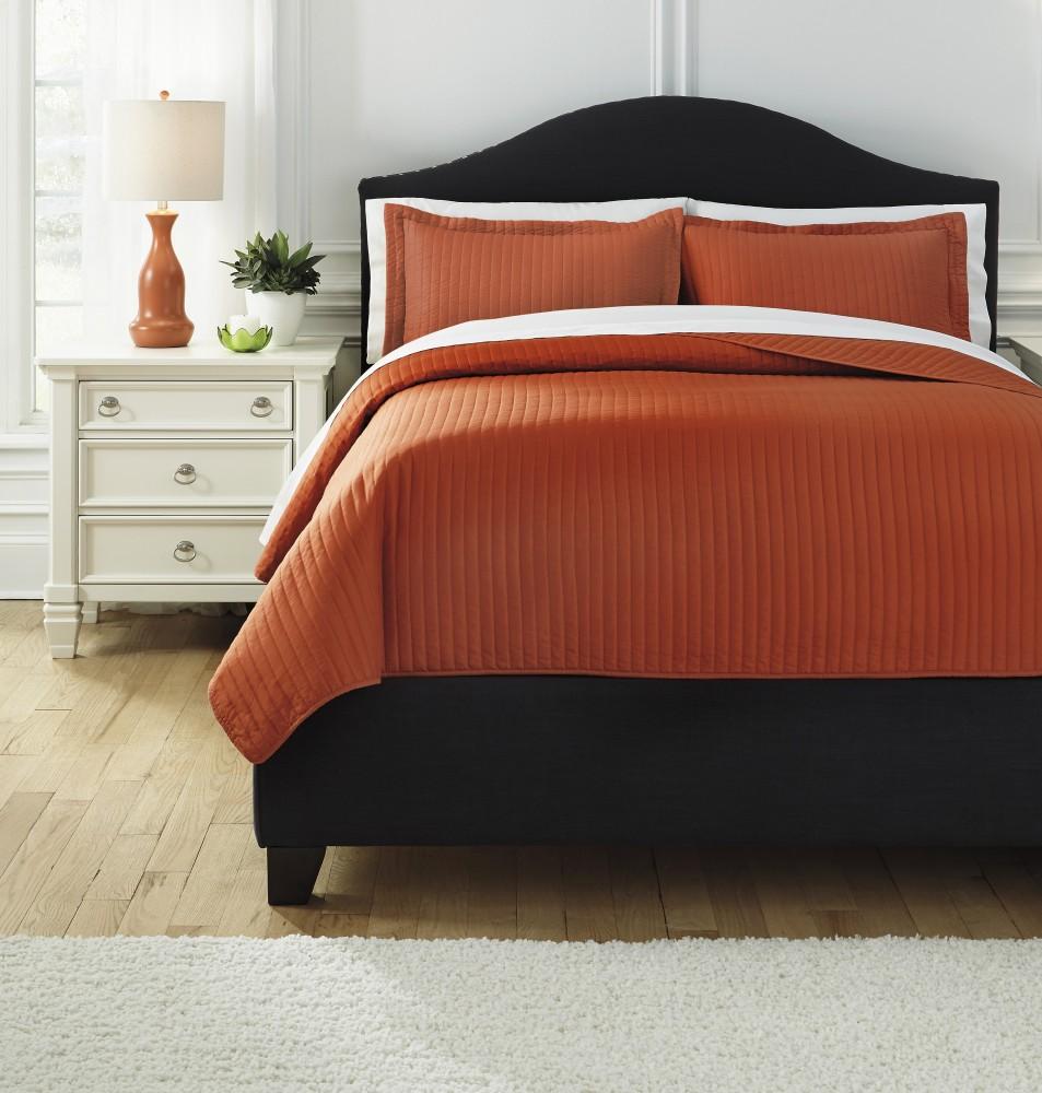 Raleda - Orange - King Comforter Set