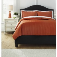 Raleda - Orange - King Comforter Set