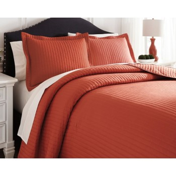 Raleda - Orange - Queen Comforter Set