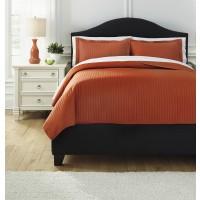 Raleda - Orange - Queen Comforter Set