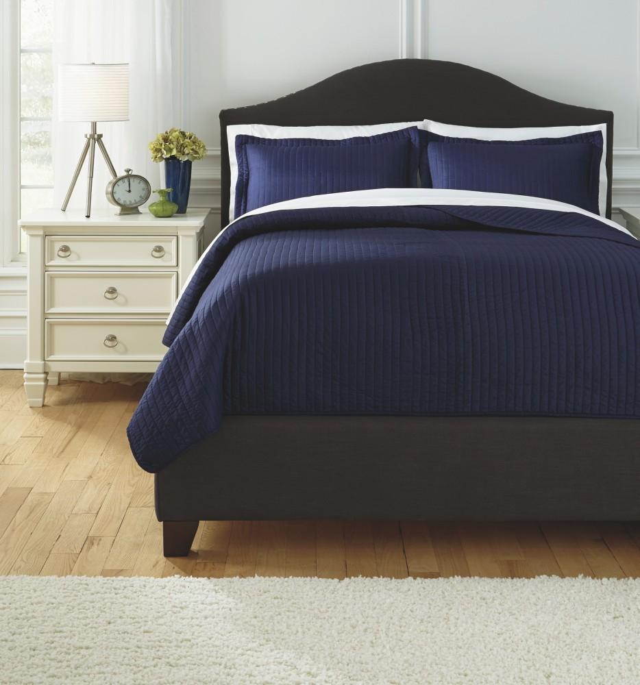 Ashley Furniture Outlet Dallas: Raleda - Navy - King Comforter Set