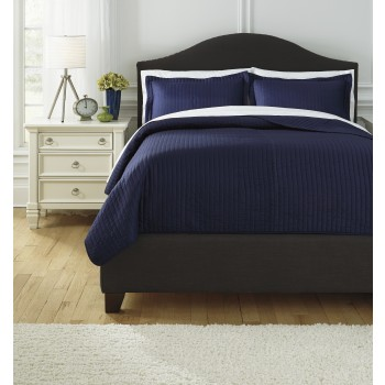 Raleda - Navy - King Comforter Set