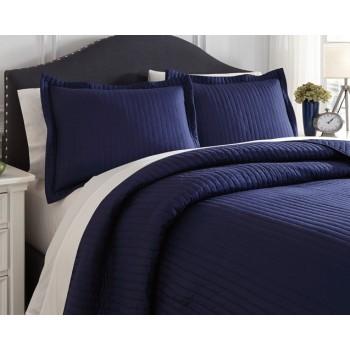 Raleda - Navy - King Comforter Set