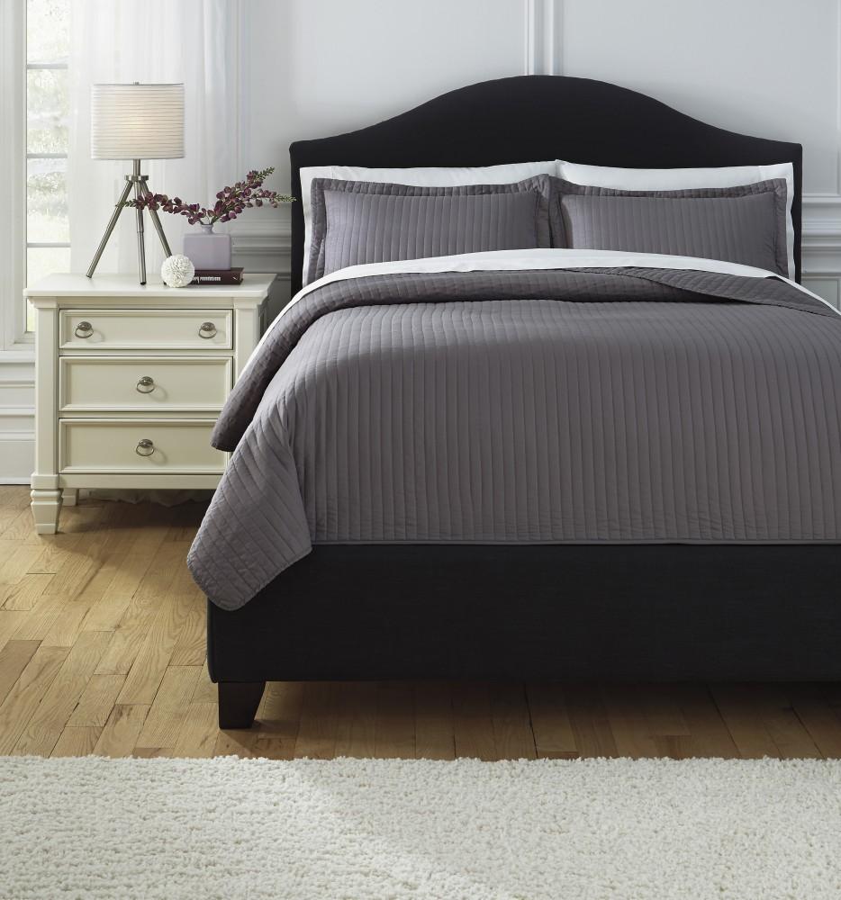 Raleda - Gray - Queen Comforter Set