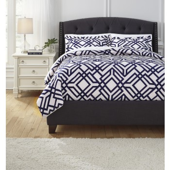 Imelda - Navy - King Comforter Set